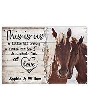 HORSES COUPLE  - CUSTOM NAME 24x16 Poster front