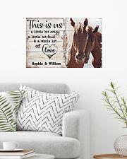 HORSES COUPLE  - CUSTOM NAME 24x16 Poster poster-landscape-24x16-lifestyle-01