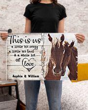 HORSES COUPLE  - CUSTOM NAME 24x16 Poster poster-landscape-24x16-lifestyle-20
