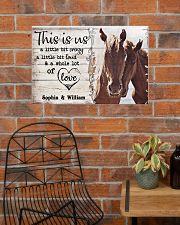 HORSES COUPLE  - CUSTOM NAME 24x16 Poster poster-landscape-24x16-lifestyle-24