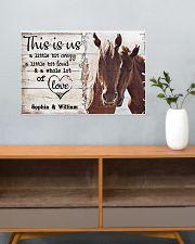 HORSES COUPLE  - CUSTOM NAME 24x16 Poster poster-landscape-24x16-lifestyle-25