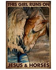 THIS GIRL RUNS ON JESUS ANS HORSES 11x17 Poster front