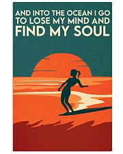 AND INTO THE OCEAN I GO TO LOSE MY MIND 11x17 Poster front