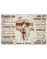 CAMPING - I CHOOSE YOU - CUSTOM NAME 17x11 Poster front