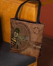 Bee Leather Pattern Print All-over Tote aos-all-over-tote-lifestyle-front-02