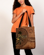 Bee Leather Pattern Print All-over Tote aos-all-over-tote-lifestyle-front-06