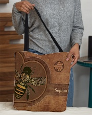 Bee Leather Pattern Print All-over Tote aos-all-over-tote-lifestyle-front-10