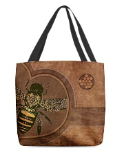 Bee Leather Pattern Print All-over Tote back