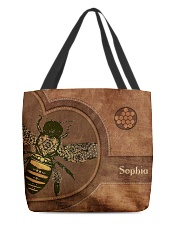 Bee Leather Pattern Print All-over Tote front
