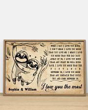SLOTH - I LOVE YOU THE MOST - CUSTOM NAME 36x24 Poster poster-landscape-36x24-lifestyle-03