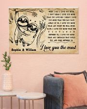 SLOTH - I LOVE YOU THE MOST - CUSTOM NAME 36x24 Poster poster-landscape-36x24-lifestyle-18