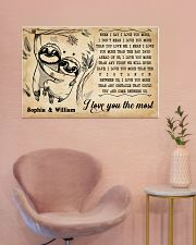 SLOTH - I LOVE YOU THE MOST - CUSTOM NAME 36x24 Poster poster-landscape-36x24-lifestyle-19