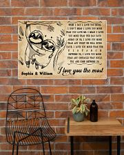 SLOTH - I LOVE YOU THE MOST - CUSTOM NAME 36x24 Poster poster-landscape-36x24-lifestyle-20