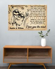 SLOTH - I LOVE YOU THE MOST - CUSTOM NAME 36x24 Poster poster-landscape-36x24-lifestyle-21