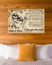 SLOTH - I LOVE YOU THE MOST - CUSTOM NAME 36x24 Poster poster-landscape-36x24-lifestyle-23