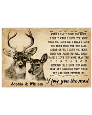 DEER COUPLE  - CUSTOM NAME 24x16 Poster front