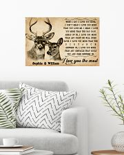 DEER COUPLE  - CUSTOM NAME 24x16 Poster poster-landscape-24x16-lifestyle-01