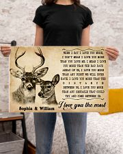 DEER COUPLE  - CUSTOM NAME 24x16 Poster poster-landscape-24x16-lifestyle-20
