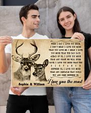 DEER COUPLE  - CUSTOM NAME 24x16 Poster poster-landscape-24x16-lifestyle-21