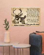 DEER COUPLE  - CUSTOM NAME 24x16 Poster poster-landscape-24x16-lifestyle-22