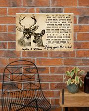 DEER COUPLE  - CUSTOM NAME 24x16 Poster poster-landscape-24x16-lifestyle-24