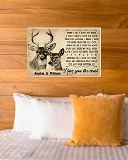 DEER COUPLE  - CUSTOM NAME 24x16 Poster poster-landscape-24x16-lifestyle-27