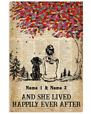 DOG AND GIRL - CUSTOM NAME 11x17 Poster front