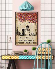 DOG AND GIRL - CUSTOM NAME 11x17 Poster lifestyle-poster-6