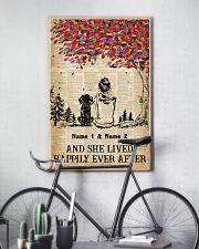 DOG AND GIRL - CUSTOM NAME 11x17 Poster lifestyle-poster-7