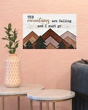 THE MOUNTAINS ARE CALLING AND I MUST GO 17x11 Poster poster-landscape-17x11-lifestyle-21