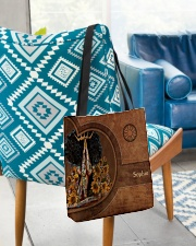 Afro Girl Leather Pattern Print All-over Tote aos-all-over-tote-lifestyle-front-01