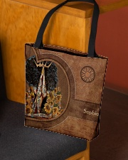 Afro Girl Leather Pattern Print All-over Tote aos-all-over-tote-lifestyle-front-02