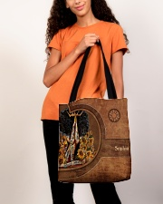 Afro Girl Leather Pattern Print All-over Tote aos-all-over-tote-lifestyle-front-06