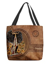 Afro Girl Leather Pattern Print All-over Tote front