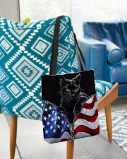 Cat Flag Leather Pattern Print All-over Tote aos-all-over-tote-lifestyle-front-01