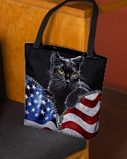 Cat Flag Leather Pattern Print All-over Tote aos-all-over-tote-lifestyle-front-02