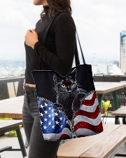 Cat Flag Leather Pattern Print All-over Tote aos-all-over-tote-lifestyle-front-04
