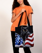 Cat Flag Leather Pattern Print All-over Tote aos-all-over-tote-lifestyle-front-06