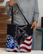 Cat Flag Leather Pattern Print All-over Tote aos-all-over-tote-lifestyle-front-10