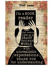 BOOK READER - CUSTOM NAME 11x17 Poster front