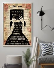 BOOK READER - CUSTOM NAME 11x17 Poster lifestyle-poster-1