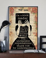 BOOK READER - CUSTOM NAME 11x17 Poster lifestyle-poster-2