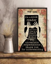 BOOK READER - CUSTOM NAME 11x17 Poster lifestyle-poster-3