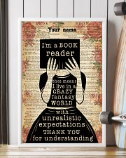 BOOK READER - CUSTOM NAME 11x17 Poster lifestyle-poster-4