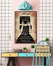 BOOK READER - CUSTOM NAME 11x17 Poster lifestyle-poster-6