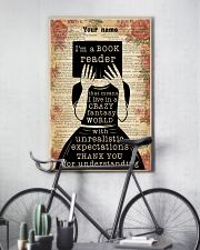 BOOK READER - CUSTOM NAME 11x17 Poster lifestyle-poster-7
