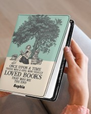 ONCE UPON A TIME - CUSTOM NAME Medium - Leather Notebook aos-medium-leather-notebook-lifestyle-front-05
