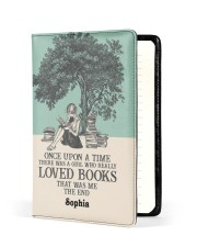 ONCE UPON A TIME - CUSTOM NAME Medium - Leather Notebook front