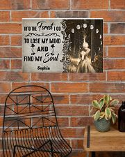 HIPPIE - INTO THE FOREST - CUSTOM NAME 24x16 Poster poster-landscape-24x16-lifestyle-24