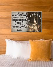 HIPPIE - INTO THE FOREST - CUSTOM NAME 24x16 Poster poster-landscape-24x16-lifestyle-27